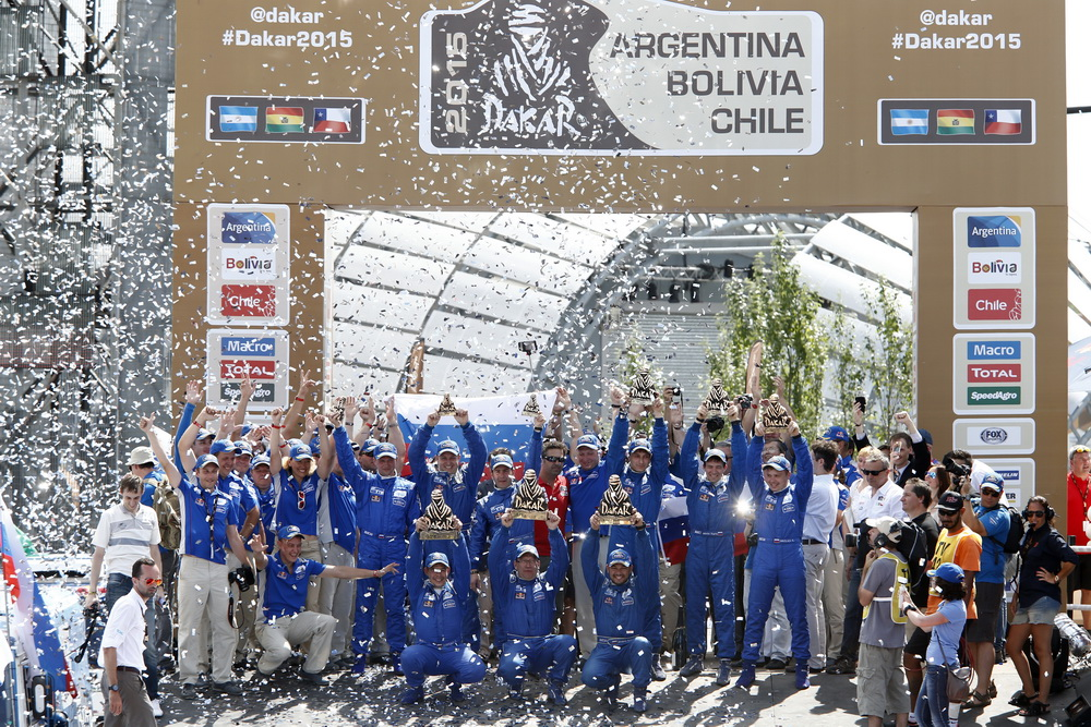 Kamaz Finish Ambiance during the Dakar 2015 Argentina Bolivia Chile, Stage 13 Finish and Podium / Etape 13, Rosario to Buenos Aires on January 17th 2015 at Rosario, Argentina. Photo Florent Gooden / DPPI