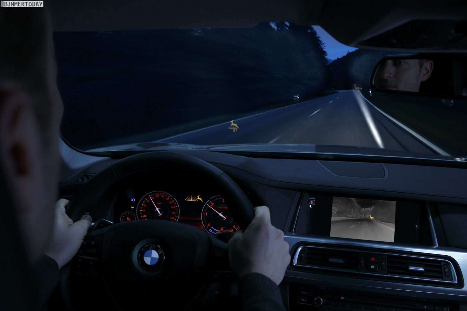 BMW-Night-Vision-Tier-Erkennung-Light-Spot-aktiv-anblinken-20131