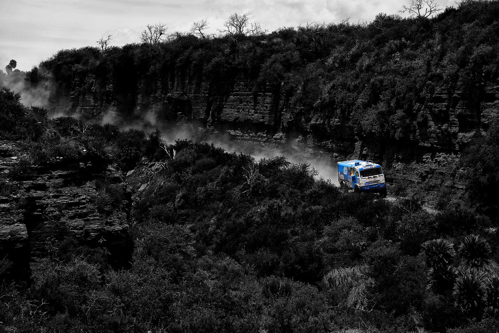 500 MARDEEV Airait BELYAEV AYDAR SVISTUNOV DMITRIY (rus) KAMAZ action during the Dakar 2016 Argentina Bolivia, Etape 2 - Stage 2, Villa Carlos Paz - Termas de Rio Hondo, from January 4, 2016 , Argentina - Photo Florent Gooden / DPPI
