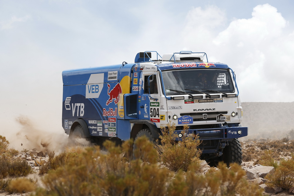 504 KARGINOV ANDREY MOKEEV ANDREY LEONOV IGOR (rus) KAMAZ action during the Dakar 2016 Argentina Bolivia, Etape 4 - Stage 4, Jujuy - Jujuy, from January 6, 2016 , Argentina - Photo Florent Gooden / DPPI
