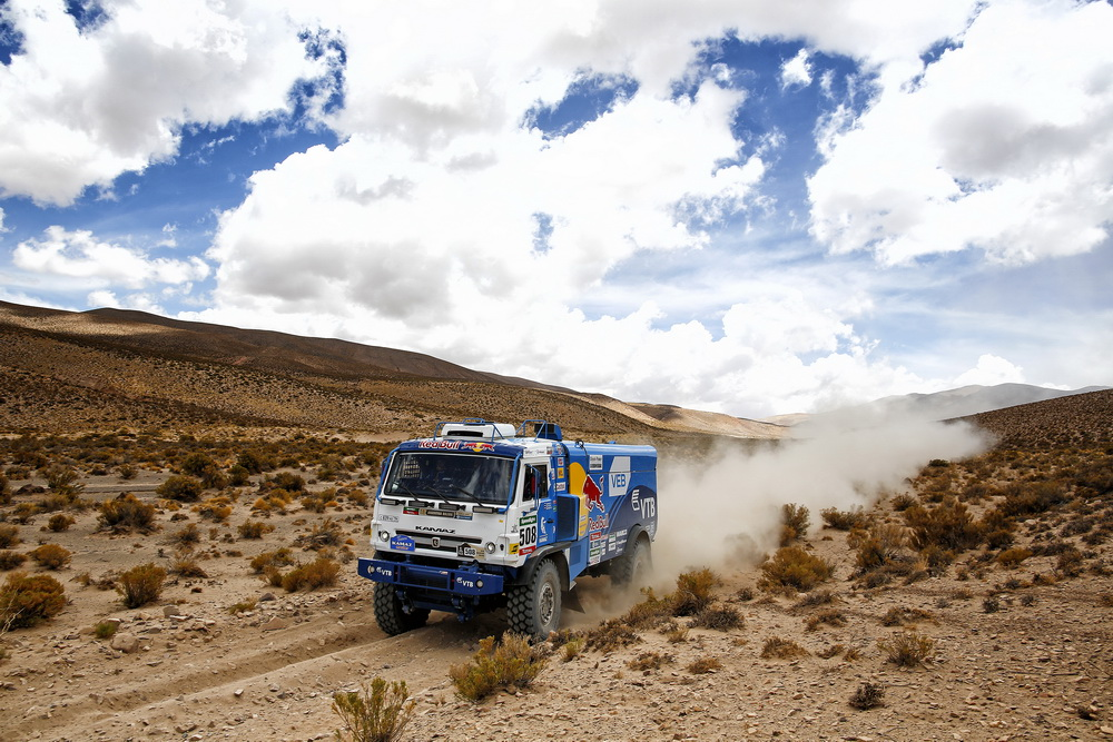 508 SOTNIKOV DMITRY DEVYATKIN IGOR AKHMADEEV Ruslan (rus) KAMAZ action during the Dakar 2016 Argentina Bolivia, Etape 4 - Stage 4, Jujuy - Jujuy, from January 6, 2016 , Argentina - Photo Frederic Le Floc'h / DPPI