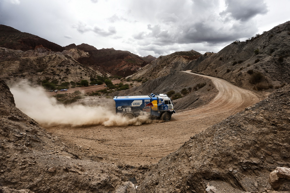 500 MARDEEV Airait BELYAEV AYDAR SVISTUNOV DMITRIY (rus) KAMAZ action during the Dakar 2016 Argentina Bolivia, Etape 5 - Stage 5, Jujuy - Uyuni, from January 7, 2016 , Argentina - Photo Florent Gooden / DPPI