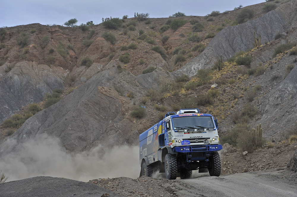 502 NIKOLAEV EDUARD YAKOVLEV EVGENY RYBAKOV VLADIMIR (rus) KAMAZ action during the Dakar 2016 Argentina Bolivia, Etape 5 - Stage 5, Jujuy - Uyuni, from January 7, 2016 , Argentina - Photo DPPI