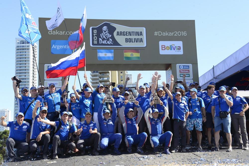 Kamaz ambiance podium during the Dakar 2016 Argentina,  Bolivia, Etape 13 / Stage 13,  Villa Carlos Paz – Rosario, Finish - Podium  from  January 16, 2016 - Photo Eric Vargiolu / DPPI