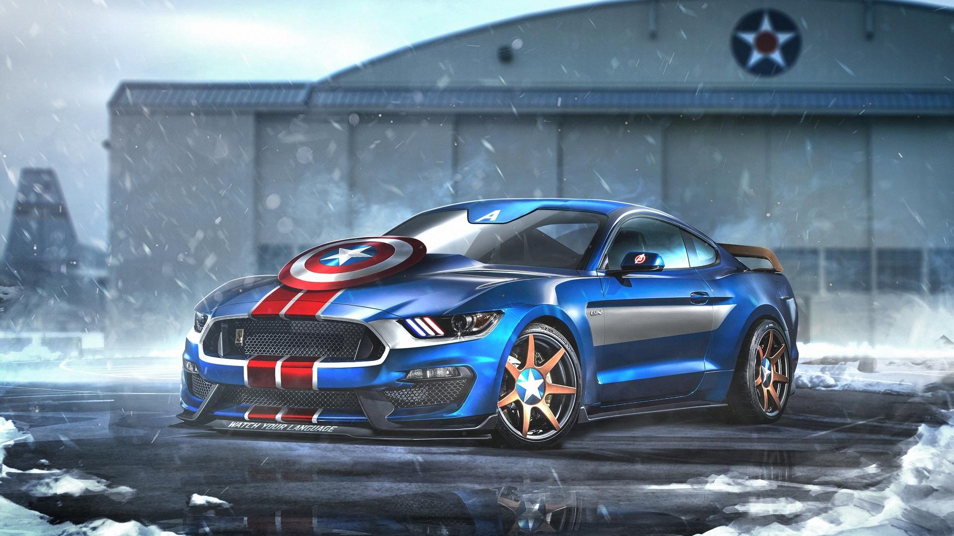 Капитан Америка! Ничто так не ассоциируется с Американским автопромом, как Мустанг! Думаю тут автор железно попал в точку! Настоящий Muscle car, перекачанный стероидами, самоуверенный , красивый и сильный.