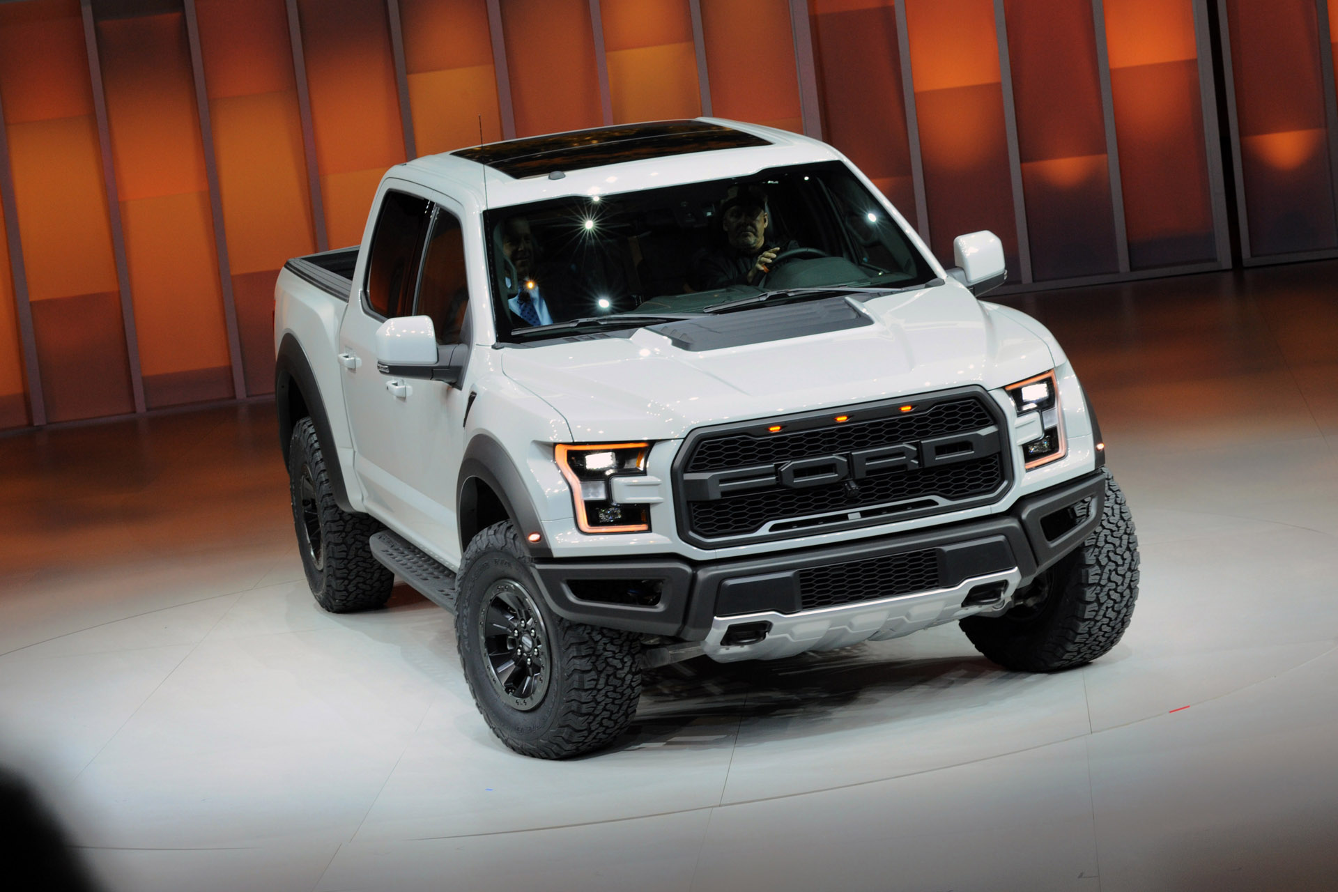 Detroit, January 11, 2016 -- The all-new F-150 Raptor SuperCrew at the North American International Auto Show. With four full-size doors, F-150 Raptor SuperCrew adds room for passengers and gear, expanding choice and versatility in the toughest, smartest, most capable F-150 Raptor ever.