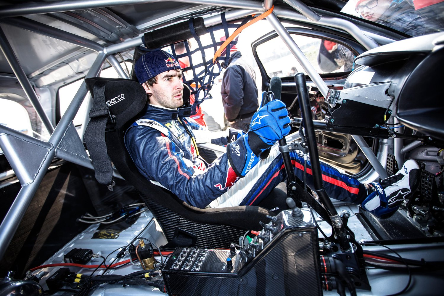 Timur Timerzyanov prepares to test the DS3 during the Hansen Motorsport Test Sessions in Essay, France on March 28th, 2013 // Flavien Duhamel/Red Bull Content Pool // P-20130329-00144 // Usage for editorial use only // Please go to www.redbullcontentpool.com for further information. //