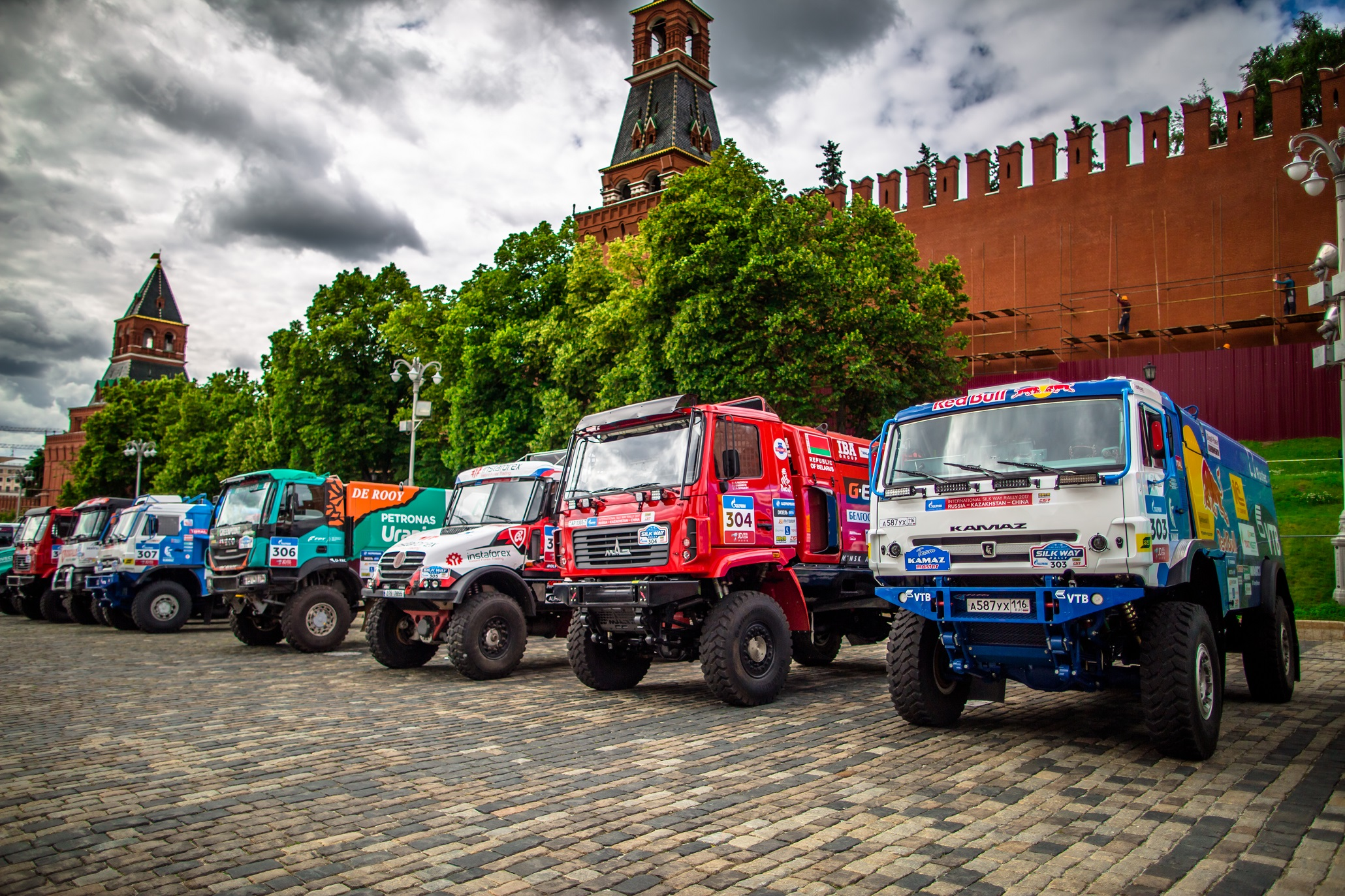 Ambiance Park Ferme on the Red Square during of the Silk Way Rally in Moscow, Russia, July 7, 2017