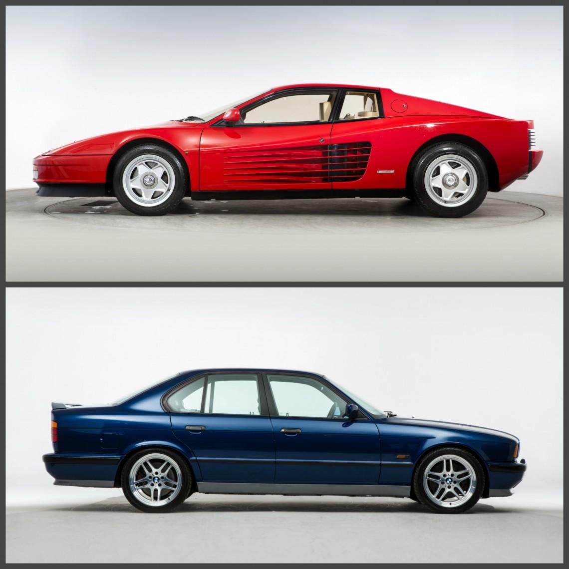 BMW M5 (E34) против Ferrari Testarossa, перевод CAR