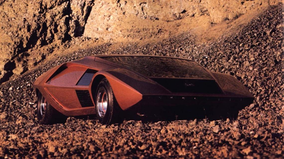 Lancia Stratos Zero'1970 by Bertone, перевод из Octane