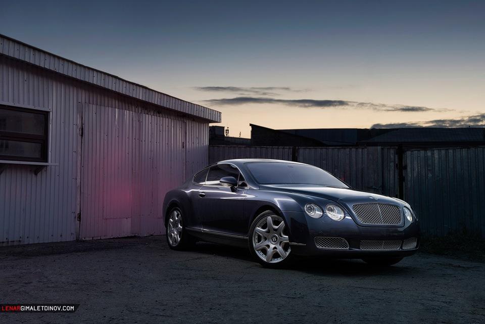 Bentley Continental GT фотосет в нестандартной локации