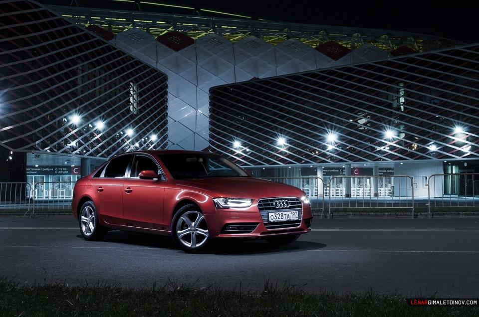 Audi A4 терракотово-кирпичная, московский фотосет