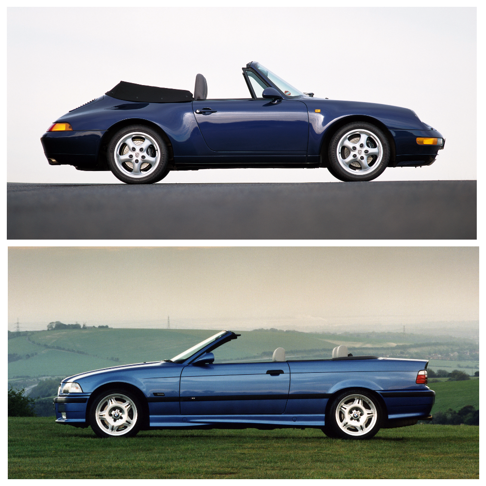 Сравнительный тест-драйв BMW M3 Cabrio (E36) vs Porsche 911 Carrera Cabriolet (993)