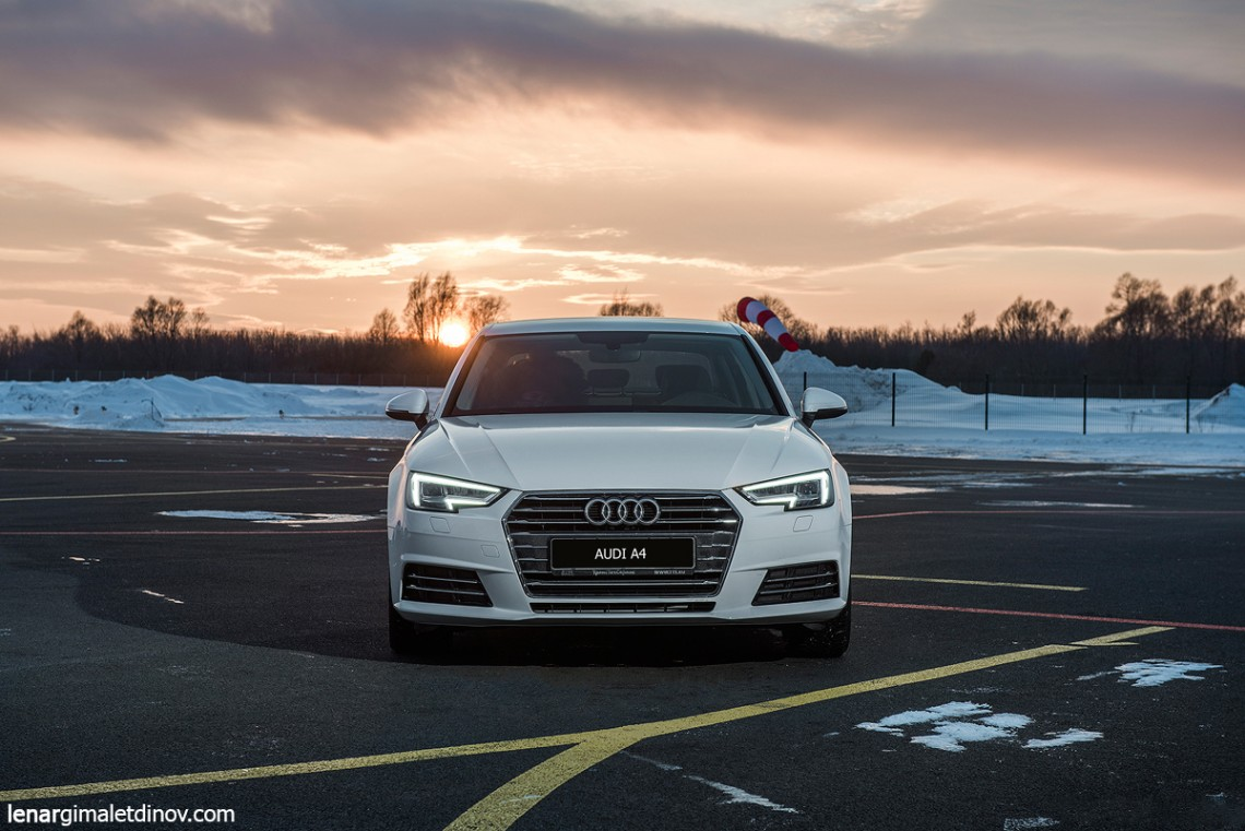 Audi A4 new — тестовые съемки с квадрокоптера