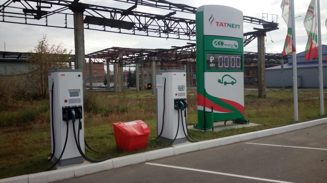 В Казани появились первые заправки для электромобилей!