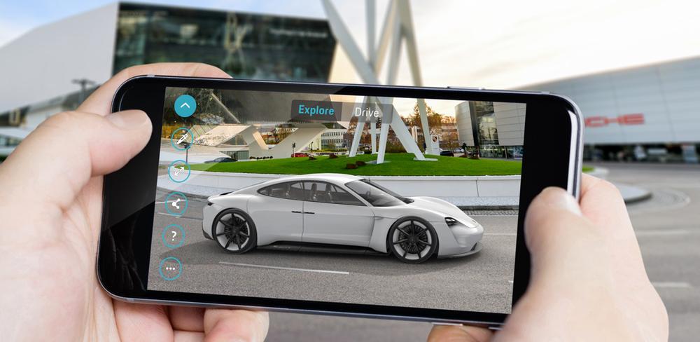 Виртуальный взгляд в будущее. Porsche представляет приложение дополненной реальности Mission E