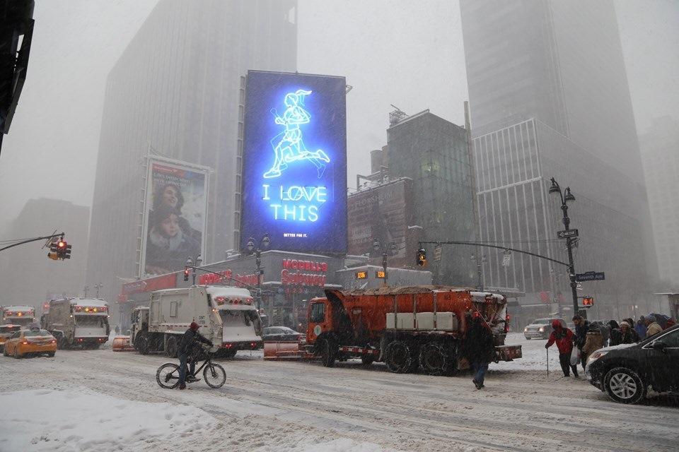 New York 2016 — снежный шторм!