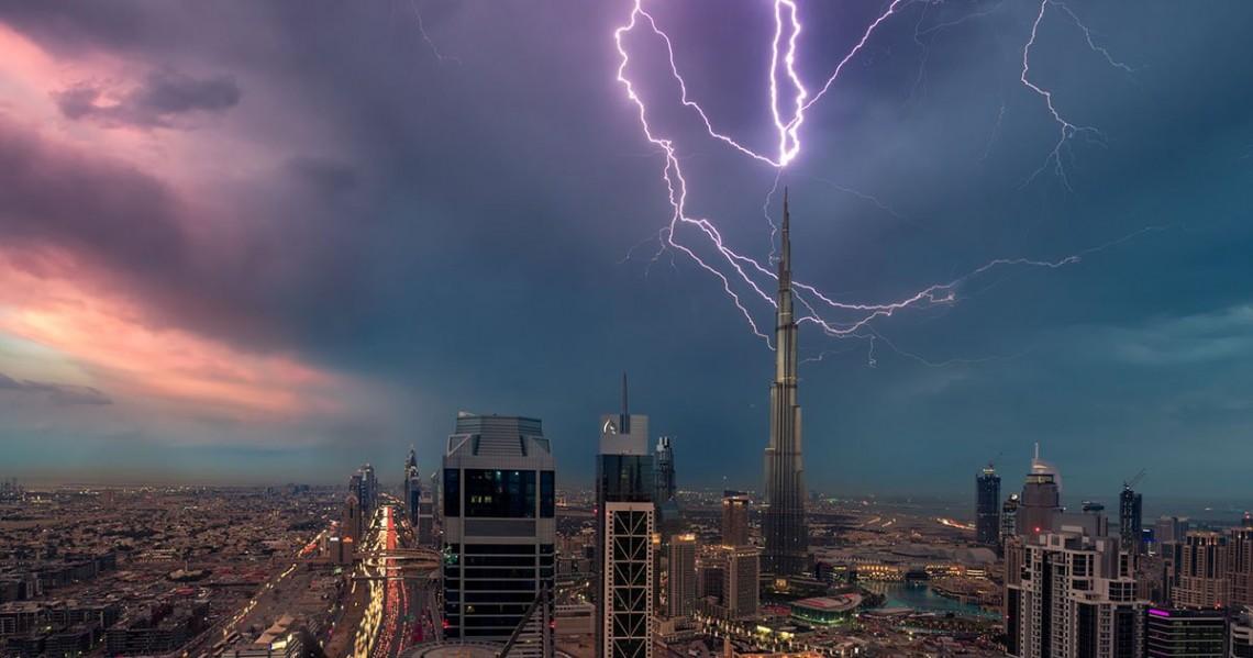 Сильнейший шторм в Эмиратах!