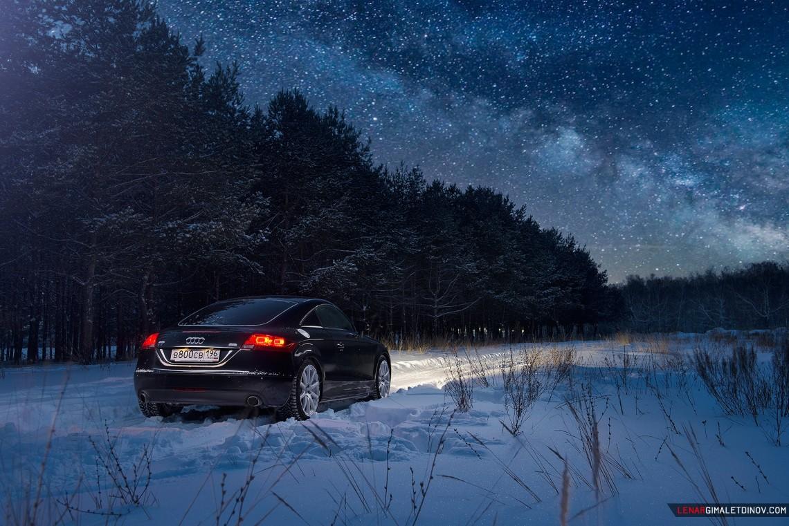 Audi TT зимний фотосет