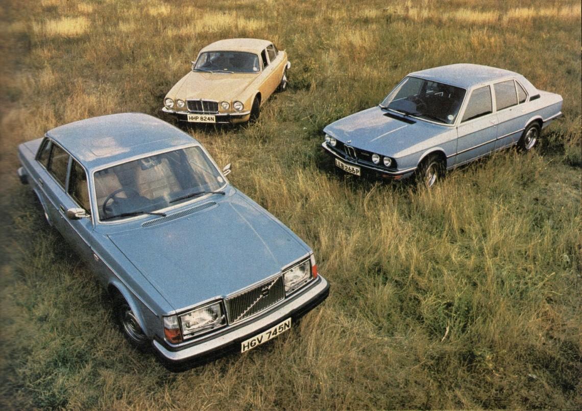 Сравнительный тест-драйв 1975 года: BMW 528 E12 vs Volvo 264 GL vs Jaguar XJ 3.4, перевод из What Car?